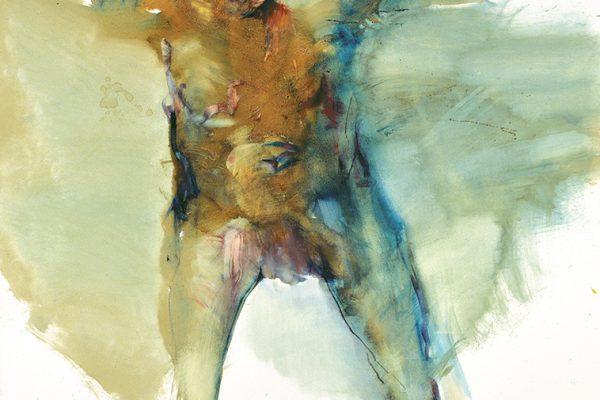 Franta L'africain 2017 huile sur toile 195 x 130 cm ©Roland Michaux et Bogéna Galerie OK BD