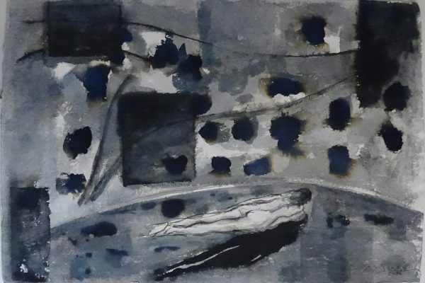 Roberto Mangu Pax 2014 Encre sur papier chiffon